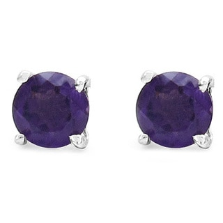 Malaika 0.48 Carat Genuine Amethyst .925 Sterling Silver Earrings