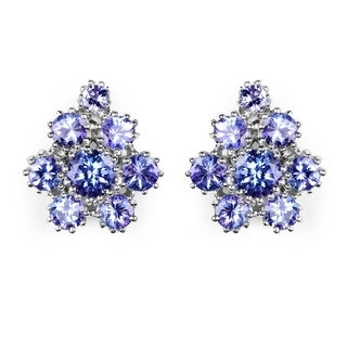 Malaika 4.3 ct Genuine Tanzanite Sterling Silver Earrings