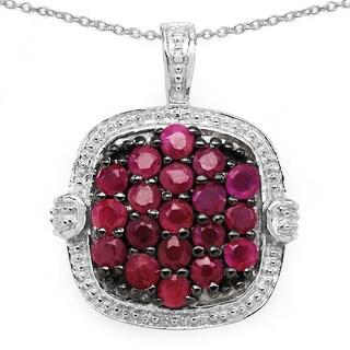 Malaika 1.52 Carat Genuine Ruby .925 Sterling Silver Pendant