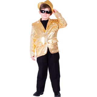 Dress Up America Boys' Sequin Costume Jacket (Option: Gold)