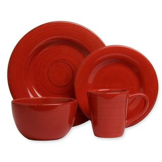 Tag Sonoma Red Dinnerware 16-piece Set  sc 1 st  Overstock : tag tableware - pezcame.com