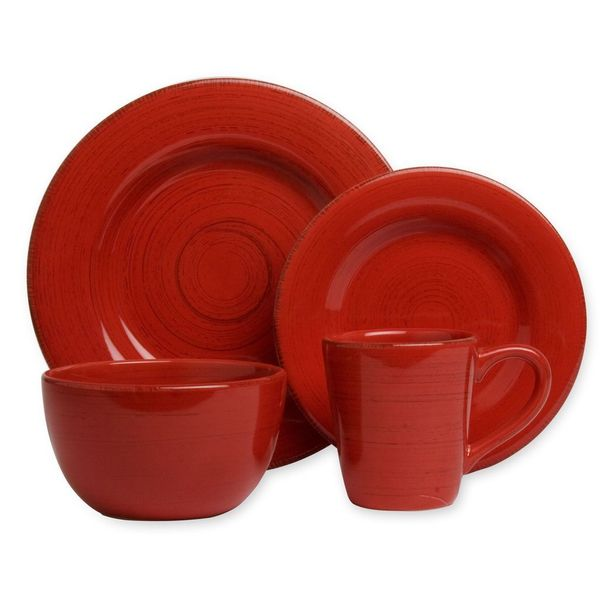 Tag Sonoma Red Dinnerware 16-piece Set  sc 1 st  Overstock.com & Tag Sonoma Red Dinnerware 16-piece Set - Free Shipping Today ...