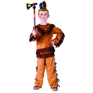 Dress Up America Boys' Indian Warrior Costume
