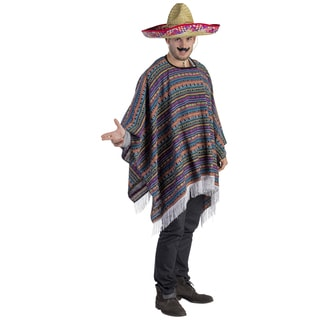Dress Up America Mexican Poncho Costume