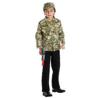 Dress Up America Boys' Army Solider Role Play Set Costume