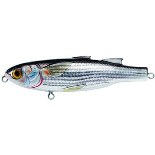 LiveTarget Mullet Walking Bait Silver/ Black no. 2