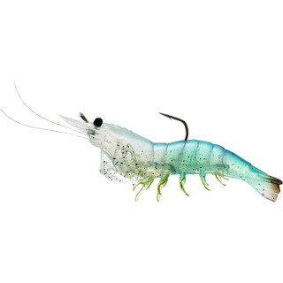 LiveTarget Rigged Shrimp Soft Plastic White Shrimp 1/ 0