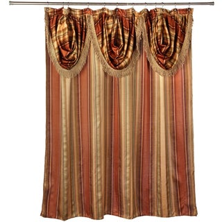 Ultra-Modern Shower Curtain with Valance and Hooks Set or Separates - Multi-color