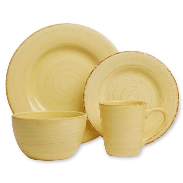 Tag Sonoma Yellow Dinnerware 16-piece Set