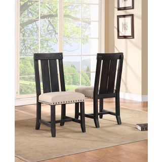 Industrial Solid Wood Dining Chair (set of 2)