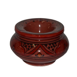 Handmade Moroccan Small Vividly Colored Smokeless Ceramic Ashtray