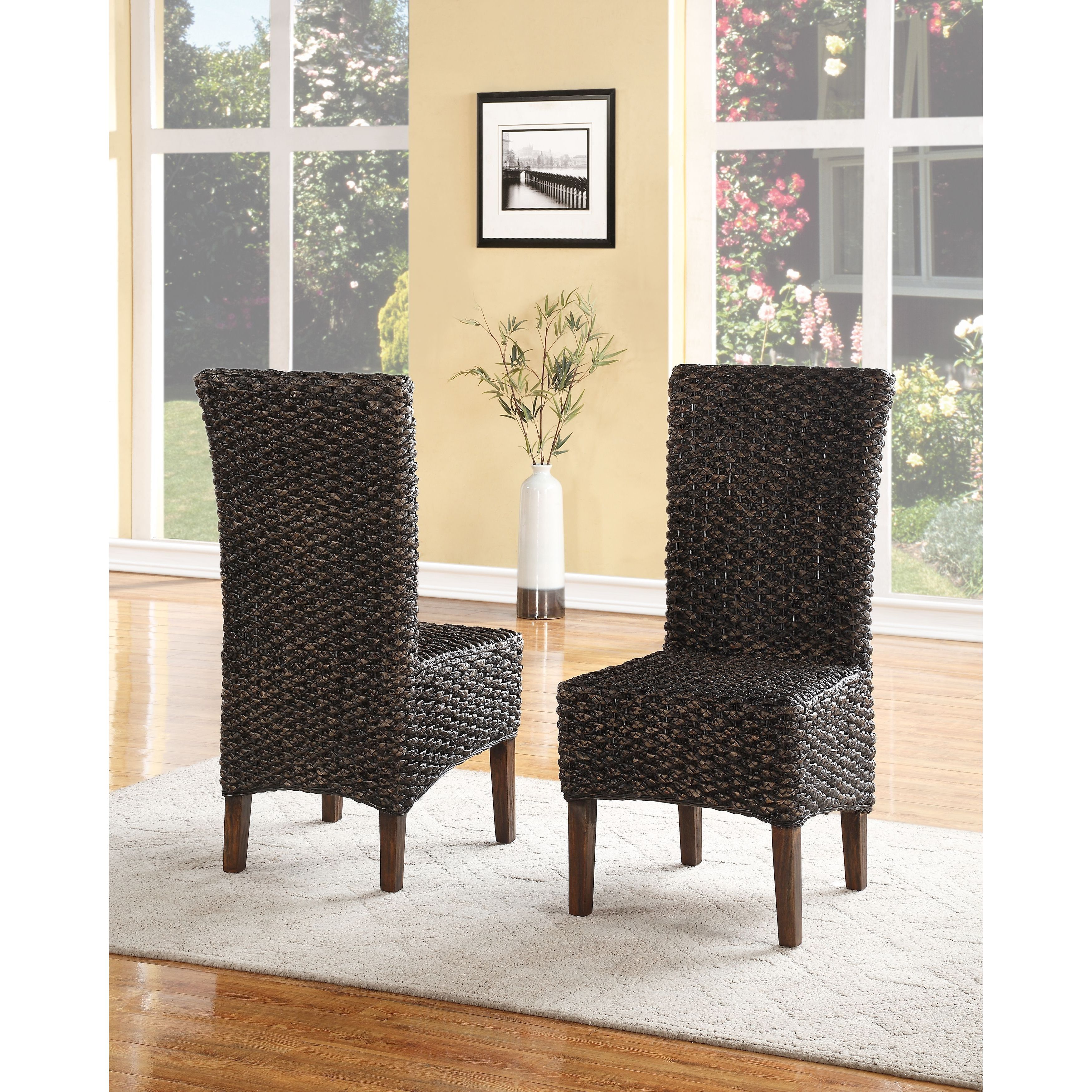 Domusindo Seagrass Dining Chair (set of 2) (Set of 2), Br...