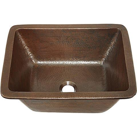 """Sinkology Hawking 17"""" Dual Mount Handmade Sink in Aged Copper"""