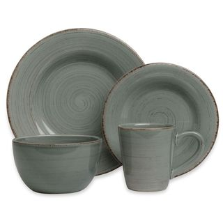 Tag Sonoma 16-piece Slate Blue Ironstone Dinnerware Set