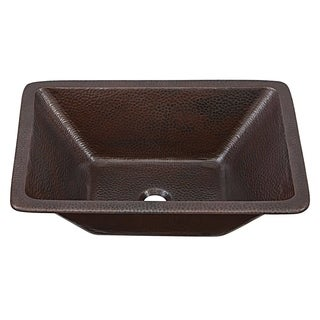 SINKOLOGY Hawking 20-inch Dual Mount Handmade Pure Aged Copper Sink