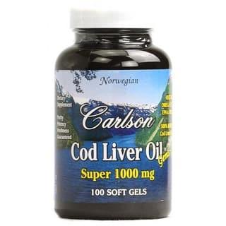 Carlson Labs Cod Liver Oil Gems (100 Softgels) https://ak1.ostkcdn.com/images/products/10160612/P17289757.jpg?impolicy=medium