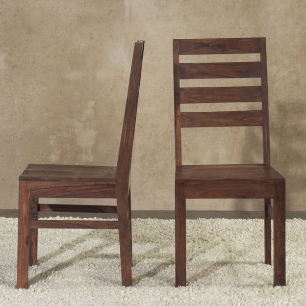 Shop Solid Wood Ladder Back Dining Chair (Set Of 2)