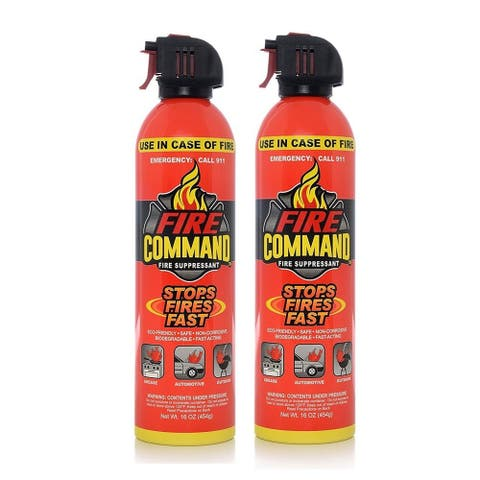 Fire Command Fire Suppressant 16-ounce Aerosol Spray (Pack of 2)