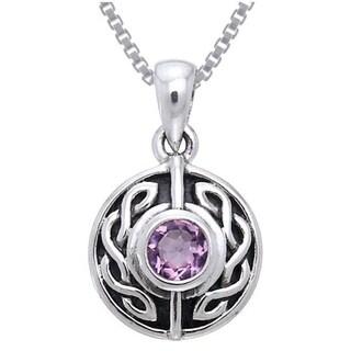 Sterling Silver Gemstone Celtic Knotwork Necklace