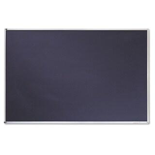 Quartet Porcelain Black Chalkboard w Silver/Aluminum Frame