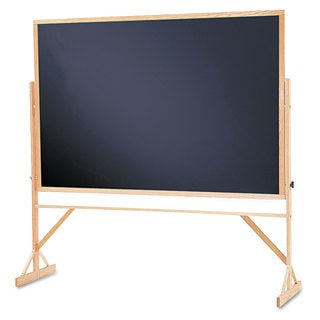 Quartet Black Surface Oak Frame Reversible Chalkboard