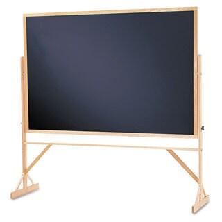 Quartet Black Surface Oak Frame Reversible Chalkboard
