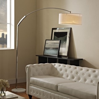Radiant Marble Arc Floor Lamp