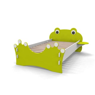 Legare Kids Furniture Frog Lime Green and White Twin Bed