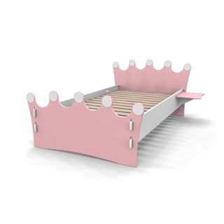 Legare Kids Furniture Princess Pink and White Twin Bed