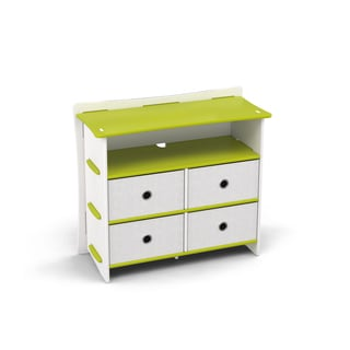 Legare Kids Furniture 4-drawer Lime Green and White Dresser