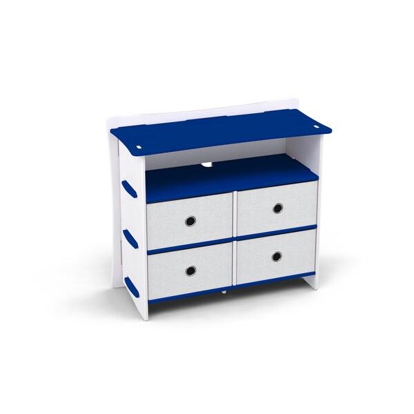 Legare Kids Furniture 4 Drawer Blue And White Dresser