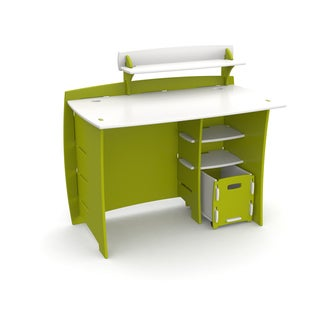 Legare Kids Furniture 43-inch Complete Lime Green and White Desk System with File Cart