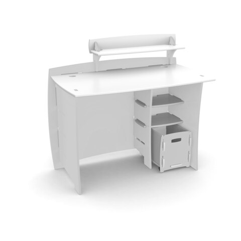 Legare Kids Furniture 43-inch Complete White Desk System with File Cart