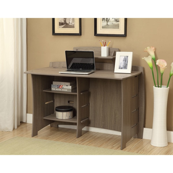 Legare Furniture 29 Inch Desk Grey Driftwood Accessory Shelf   Free  Shipping Today   Overstock.com   17289924