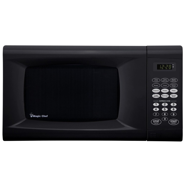 Magic Chef 0.9 cu. ft. Countertop Microwave Oven (Black),...