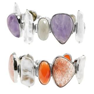 Dallas Prince Sterling Silver Multi-Gemstone Bracelet