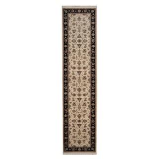 Herat Oriental Indo Hand-knotted Tabriz Wool Runner (2'7 x 10'8)