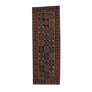 Herat Oriental Afghan Hand-woven Soumak Wool Kilim Runner (3'3 x 9')