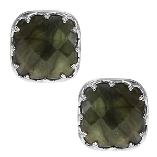 Dallas Prince Sterling Silver Labradorite Stud Earrings