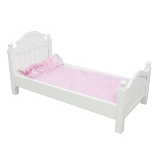 Teamson Kids My Sweet Girl 18-inch Doll Single Bed