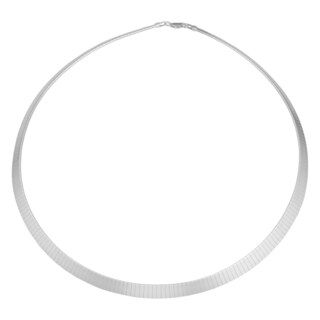 Argento Italia Sterling Silver Tapered Omega Necklace (17 inches)