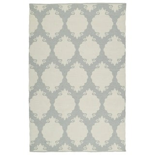 Indoor/Outdoor Laguna Grey Medallions Flat-Weave Rug (3'0 x 5'0) - 3' x 5'