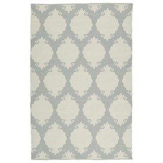 Indoor/Outdoor Laguna Grey Medallions Flat-Weave Rug (2'0 x 3'0) - 2' x 3'
