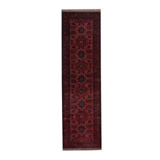 Herat Oriental Afghan Hand-knotted Khal Mohammadi Wool Runner (2'9 x 9'5)