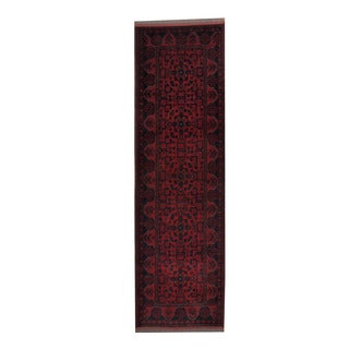 Herat Oriental Afghan Hand-knotted Khal Mohammadi Wool Runner (2'10 x 9'7)