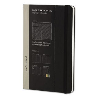 Moleskine Black Cover Professional Notebook