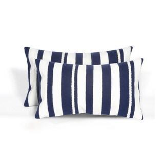 Braids Indoor/Outdoor 12 x 20 inch Throw Pillow (set of 2)