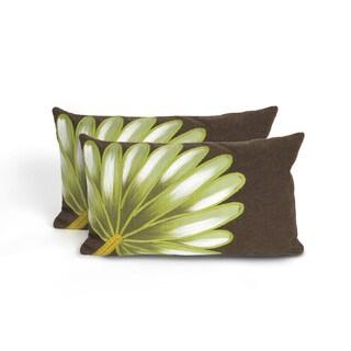 Giant Leaf Indoor/Outdoor 12 x 20 inch Throw Pillow (set of 2)