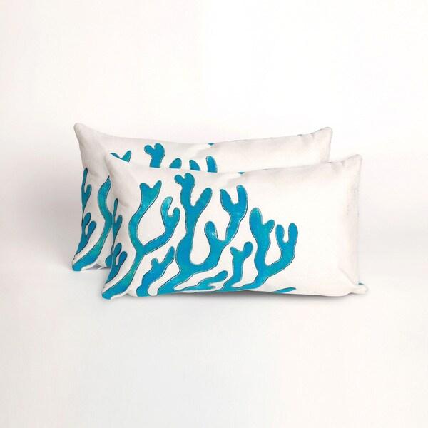 Shop Coral Fan Indoor Outdoor 12 X 20 Inch Throw Pillow