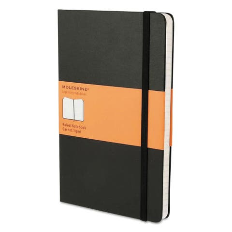Moleskine Black Hard Cover Ruled Notebook